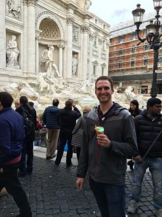 Gelato at Trevi Fountain