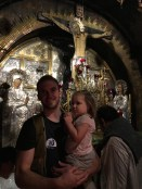 Spot where Jesus was crucified