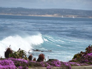 looking across the bay to Monterey