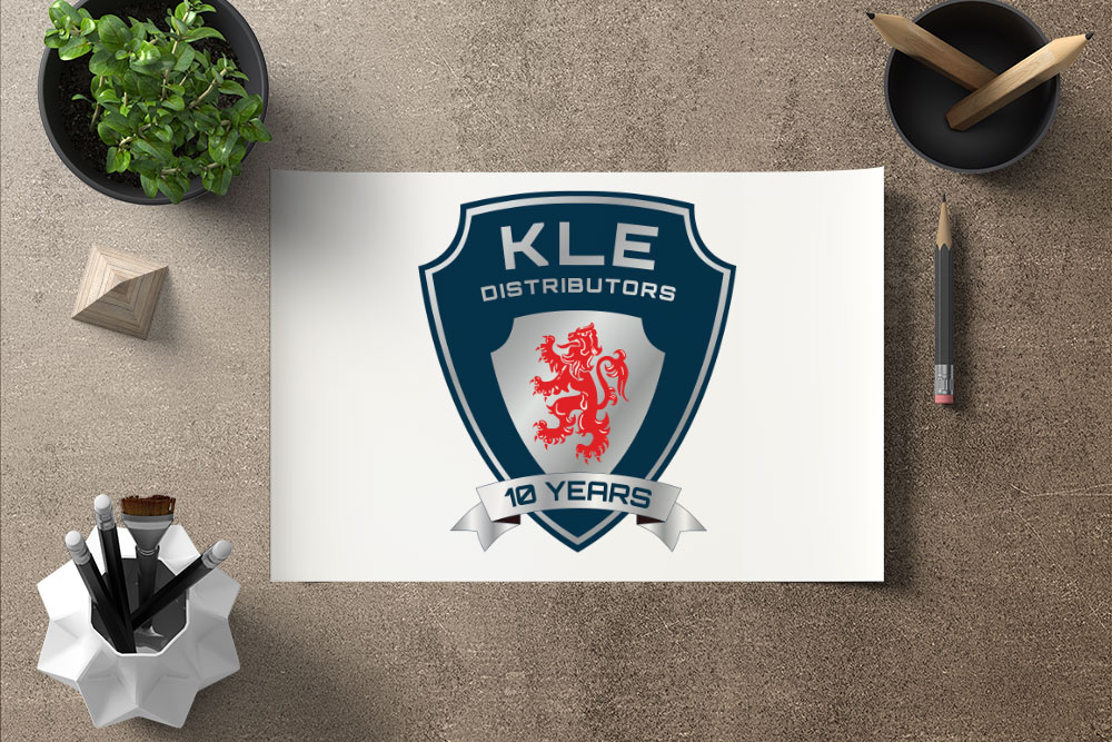 CryoDragon (Kitchener Waterloo Cambridge Graphic Design) KLE Distributors 10 Year Logo