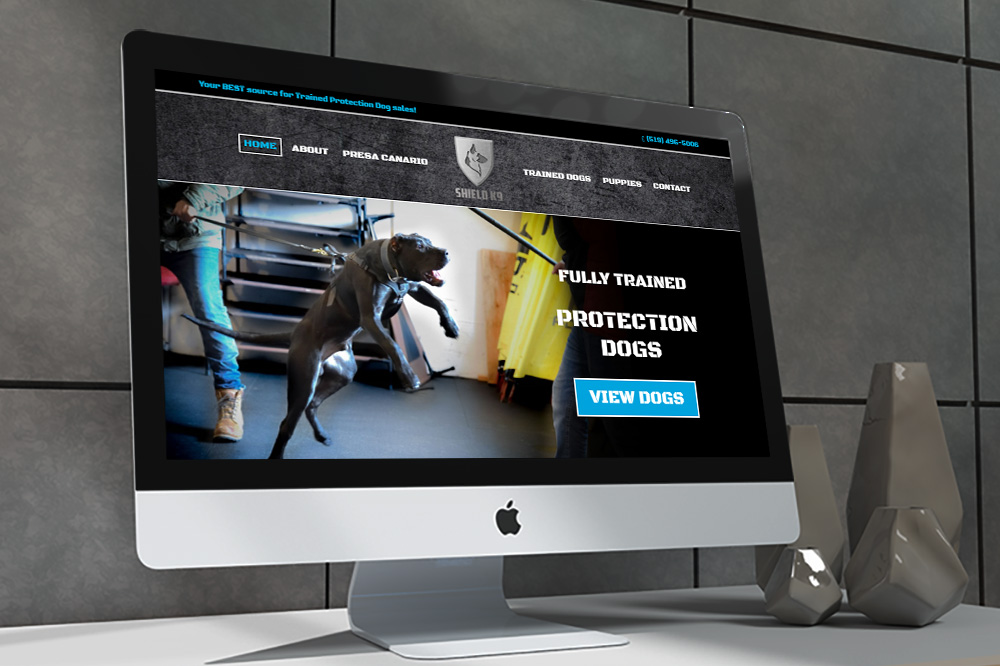 CryoDragon Website Design (Waterloo Kitchener Cambridge) Shield K9 Presa Guard Dogs