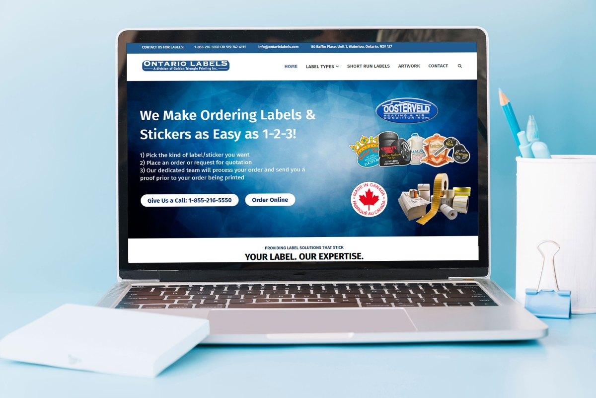 Kitchener Waterloo E-Commerce Website Design: Ontario Labels