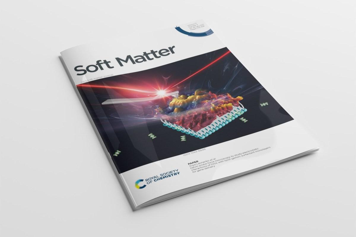 CryoDragon Science Illustration for Soft Matter Journal Front Cover V17 I4