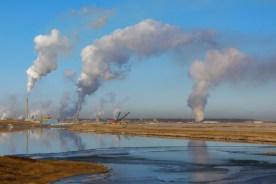 Syncrude Oil Sands, Alberta, Canada. November 2011.