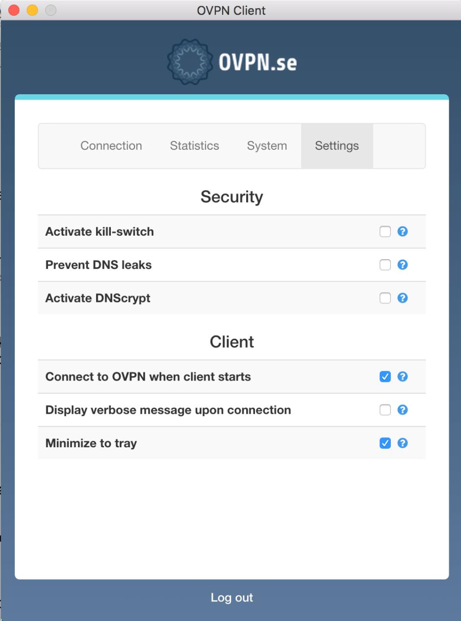 OVPN settings