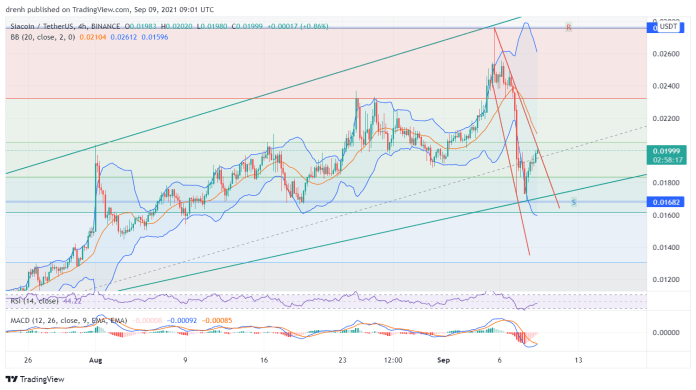 Siacoin Price Prediction September 2021: SC Attempting A Rebound