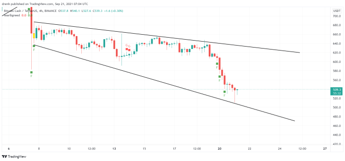 Bitcoin Cash Price Prediction September 2021: BCH With A 35% Fall In The Last Two Weeks