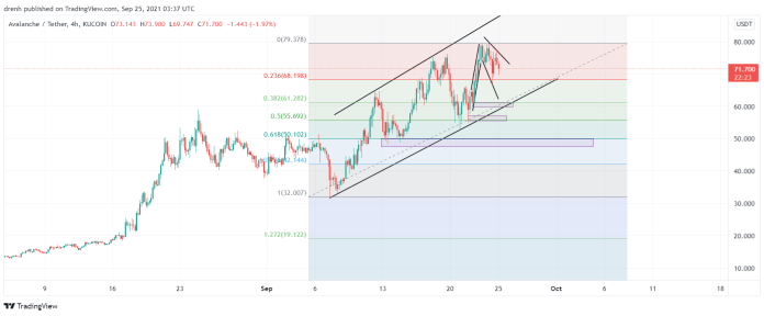 Avalanche Price Prediction September 2021: AVAX Bearish In The Coming Hours Yet Bullish In The Long Run