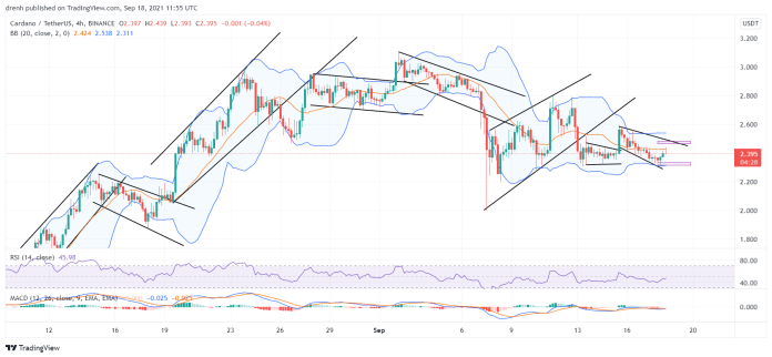 Cardano Price Prediction September 2021: ADA Finds Support At $2.31