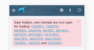 HitBTCにC20, $IDH, $IPL, $EET, $EET, $ULTC, $WAX, $TIOなど上場!仮想通貨アルトコイン取引所ニュース速報