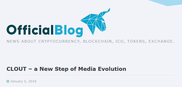 HitBTC新着!CLOUT – a New Step of Media Evolution | 仮想通貨ニュース速報