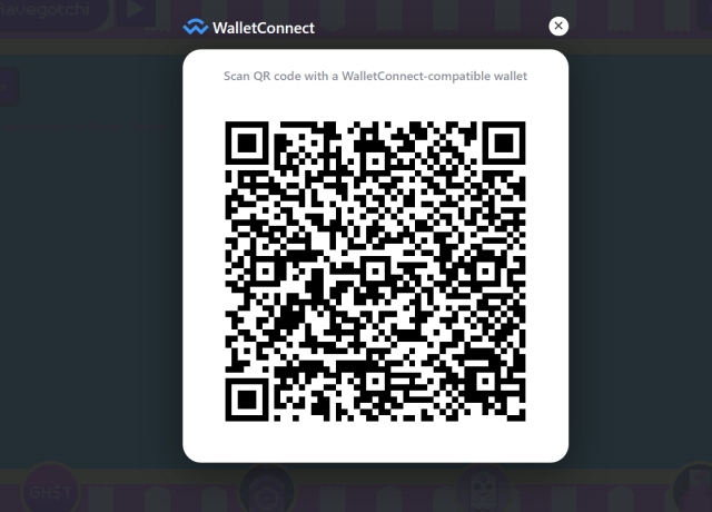 Wallet connect QR code
