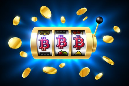 slots showing bitcoin jackpot