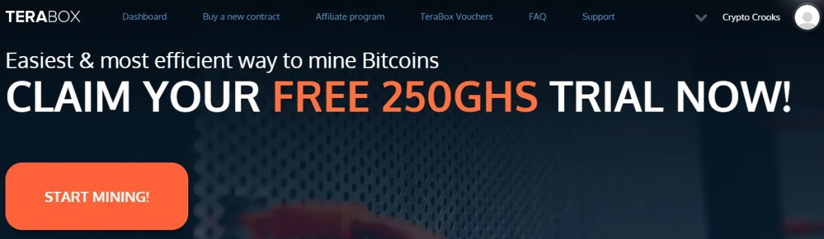 Terabox.me Cloud Mining Certainly Scam?