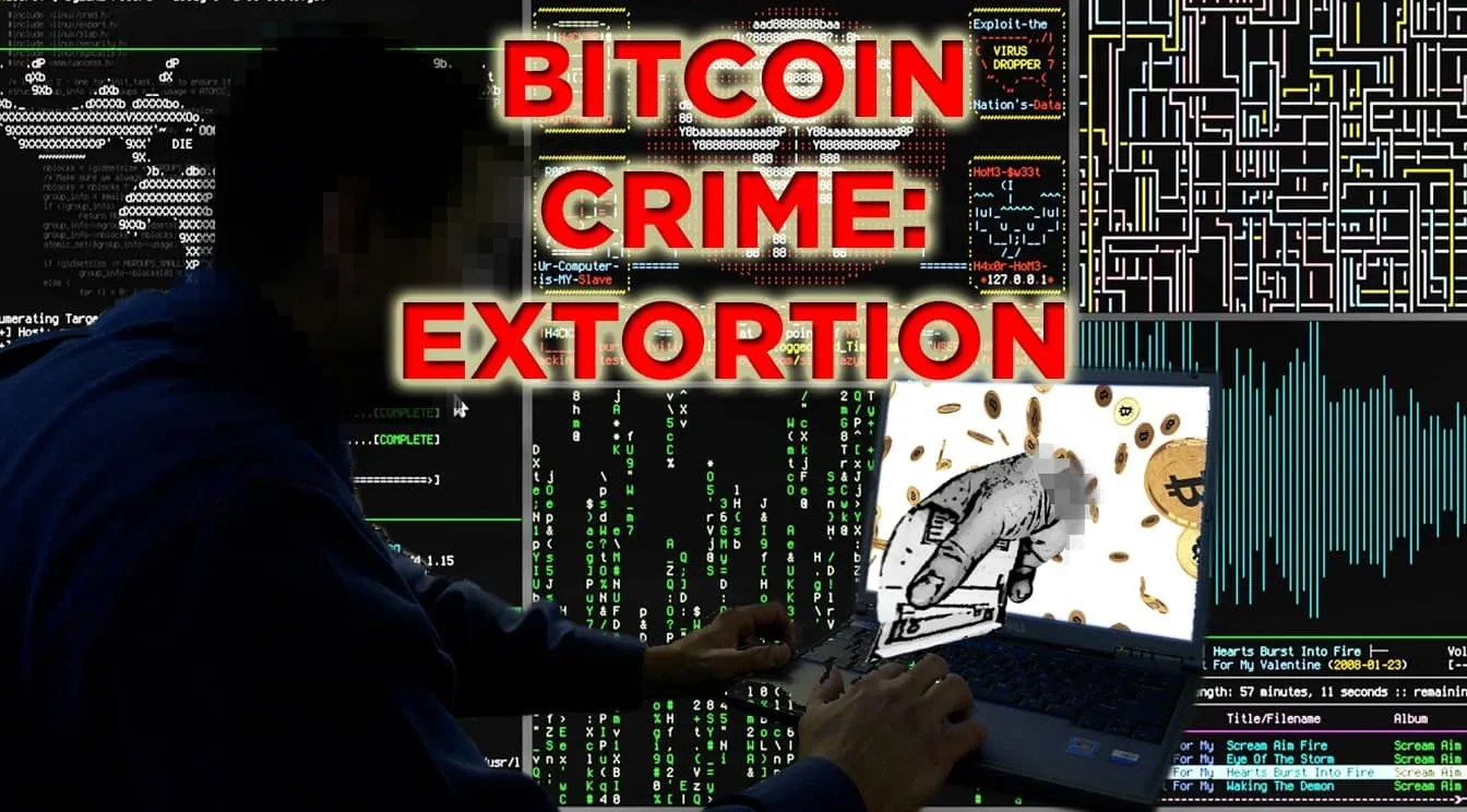 cyber crime bitcoin extortion