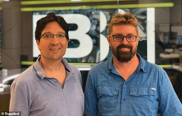 JPB Liberty's Vice President of Technology Brian Bishko (left) and chief executive Andrew Hamilton (right) pictured in July last year. The pair are spearheading the lawsuit