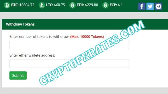ECP Withdraw Tokens Live Max. 10000 Tokens cryptofxrates.com
