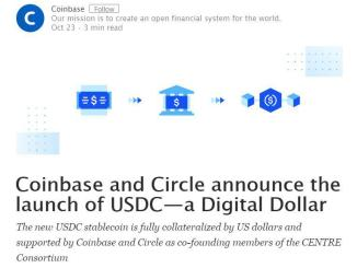 Coinbase Supported USDC Stablecoin