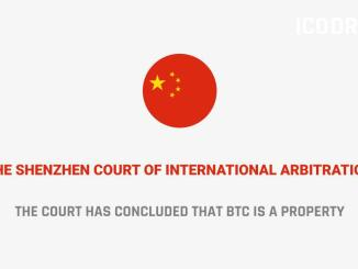 The Shenzhen Court of International Arbitration has concluded that BTC is a property