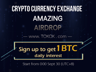 Register TOKOK Exchange Get One Bitcoin Free