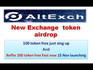 Register AltExch Exchange Account To Get 100 AEX Tokens Free Worth $10