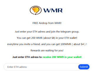 WMR Crypto Airdrop Tutorial - Earn 200 WMR Tokens - Worth $8