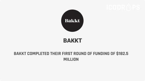 Bakkt Completed Their First Round Of Funding Of $182.5 Million