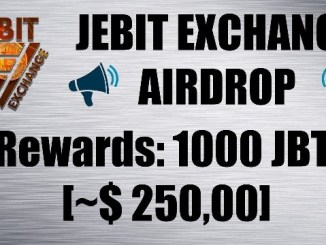 Jebit Exchange Airdrop Tutorial - Earn 1,000 JBT Coins Free