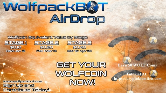 WolfPackBot Airdrop Tutorial - Earn 50 WOLF Coins Free