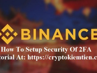 How To Setup Security Of 2FA On Binance Exchange