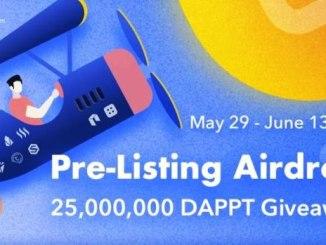 Earn Free 180 DAPPT Tokens - Dapp Airdrop DAPPT Token