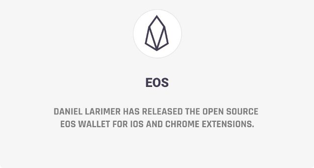 Daniel Larimer Has Released The Open Source EOS Wallet For iOS And Chrome Extensions