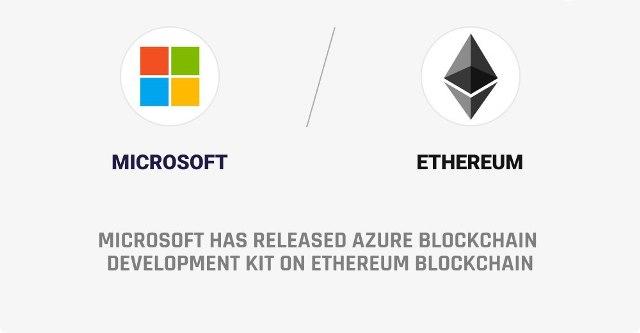 Microsoft Has Released Azure Blockchain Development Kit On Ethereum Blockchain