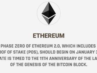 Phase Zero Of Ethereum 2.0 (POS) Should Begin On January 3, 2020