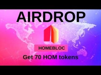 Homebloc Airdrop HOM Token - Earn Free HOM Token - 100,000$ Worth Of HOM Tokens Giveaway