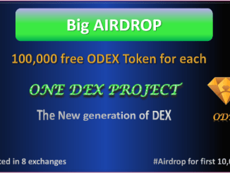 OneDex Airdrop ODEX Token Round 3 - Earn Free 100,000 ODEX Tokens - ODEX Is Trading On Multiple Exchange And Listed On Coinmarketcap