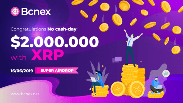 Bcnex Exchange Airdrop XRP - Earn Free $50 Of XRP - Top 3 Of