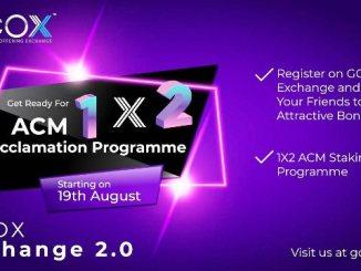 GCOX Exchange Airdrop ACM Token - Earn 100 ACM Tokens ($76) Free
