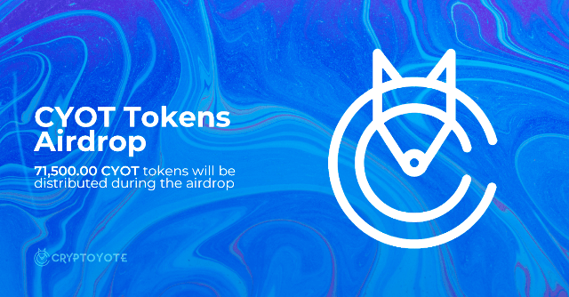 Cryptoyote Airdrop CYOT Token - Get 5 CYOT Tokens Free ~ $2.5