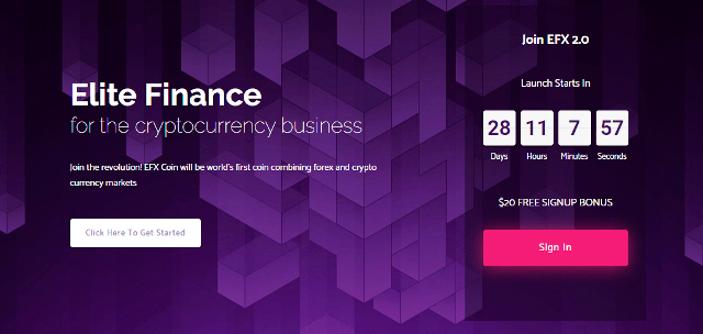 EFX2 Site Review - Earn Free $20 And Get 15% Of Monthly Profit - How To Invest With Elitefinfx?
