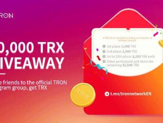 50K TRX Giveaway - Invite People To The TRON Telegram Group To Get TRX