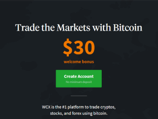 Wcex Platform Bonus 30$ Of Bitcoin Free As Sign Up