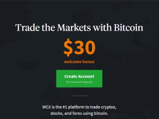 Wcex Platform Bonus 30$ Of Bitcoin Free As Sign Up