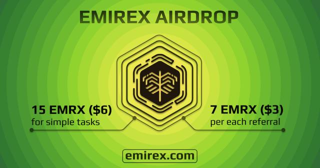 Emirex Exchange Airdrop EMRX Token - Earn $6 Of EMRX Tokens Free