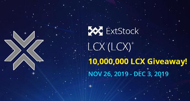 Extstock Exchange Airdrop LCX Token - Receive 5,000 LCX Tokens Free
