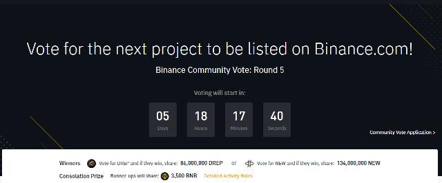 Binance Voting Round 5