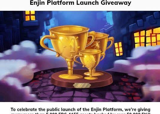 Enjin Platform Giveaway 50,000 ENJ Coins - Receive ENJ Coin Free