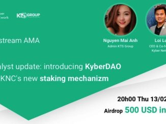 Vietnam Cryptocurrency Community-KTSGroup Airdrop KNC - $500 Of KNC Tokens Free Will Reward In AMA Of Kyber Network And KTSGroup