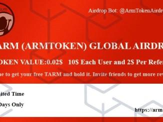ArmToken Airdrop TARM Token - Earn $10 Of TARM Tokens Free