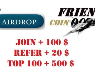 Friend007 Airdrop FC007 Token - Earn $100 Of FC007 Tokens Free